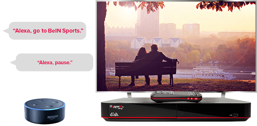 TV manos libres de DISH - Controla tu TV con Alexa de Amazon - Muleshoe, TX - Ace Satellite - Distribuidor autorizado de DISH
